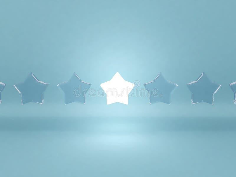 αστέρια ηγεσίας έννοιας ελεύθερη απεικόνιση δικαιώματος
