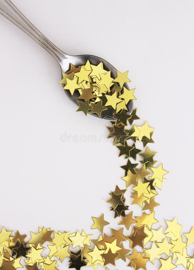 Αστέρια και ένα κουτάλι στοκ εικόνες