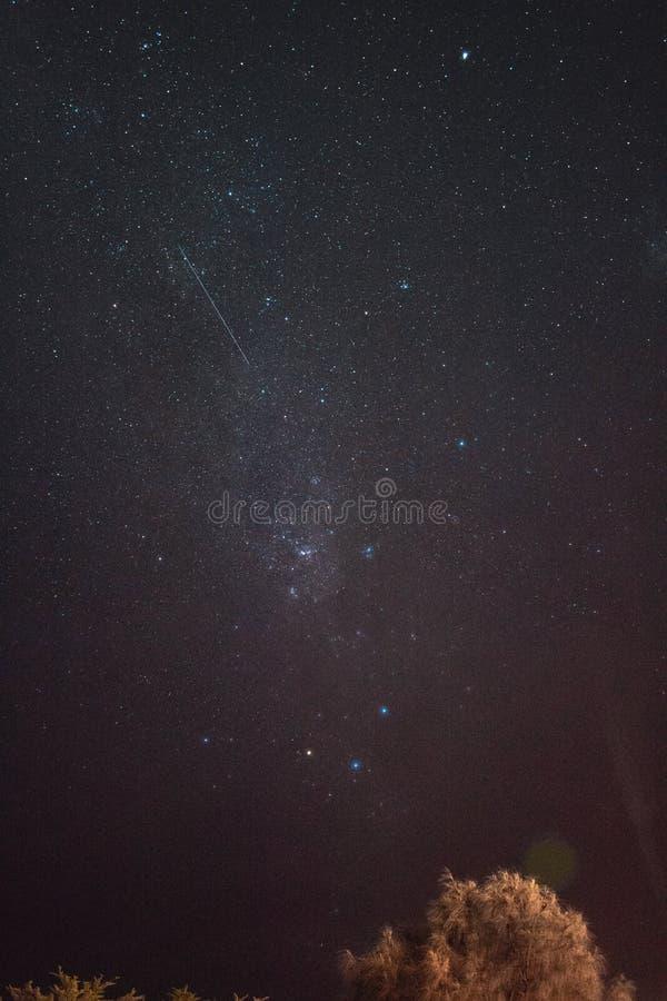 Αστέρια και επιθυμία πυροβολισμού για το στοκ φωτογραφία με δικαίωμα ελεύθερης χρήσης