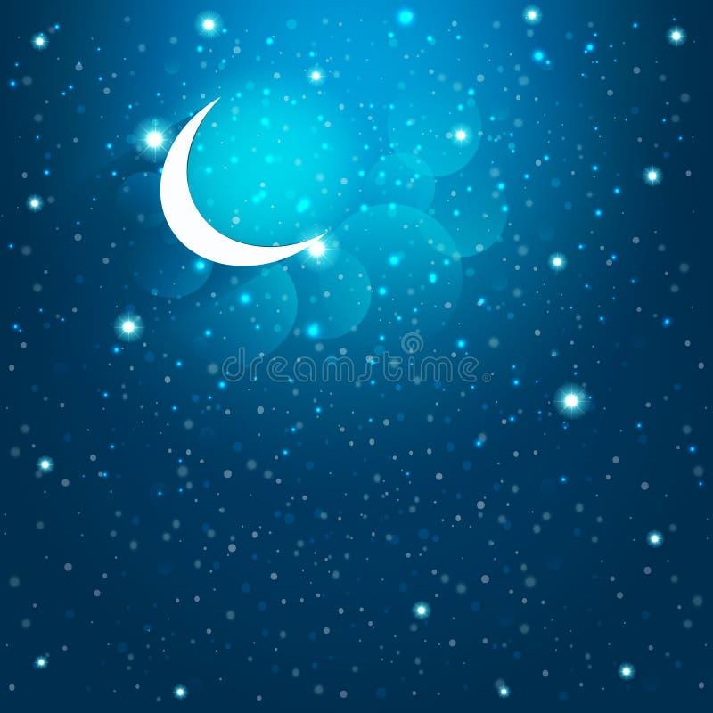 Αστέρια κινούμενων σχεδίων στο νυχτερινό ουρανό eps10 να γεμίσει προτύπων λουλουδιών πορτοκαλιά rac ric ράβοντας ριγωτή διανυσματ στοκ φωτογραφία με δικαίωμα ελεύθερης χρήσης