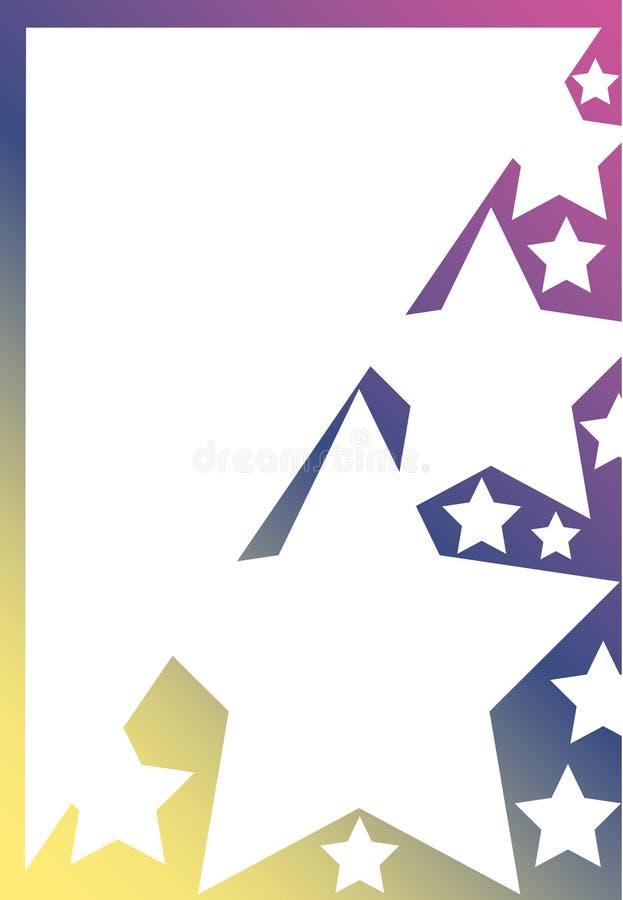 αστέρια κλίσης χρώματος ελεύθερη απεικόνιση δικαιώματος