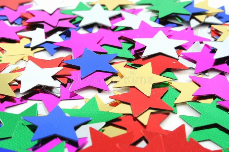 αστέρια κομφετί στοκ εικόνα με δικαίωμα ελεύθερης χρήσης