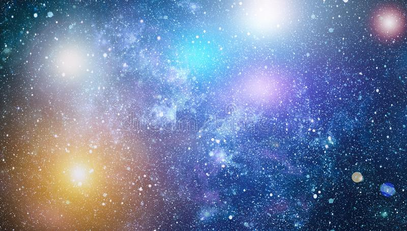 Αστέρια, νεφέλωμα σκόνης και αερίου σε έναν μακρινό γαλαξία στοκ φωτογραφίες με δικαίωμα ελεύθερης χρήσης