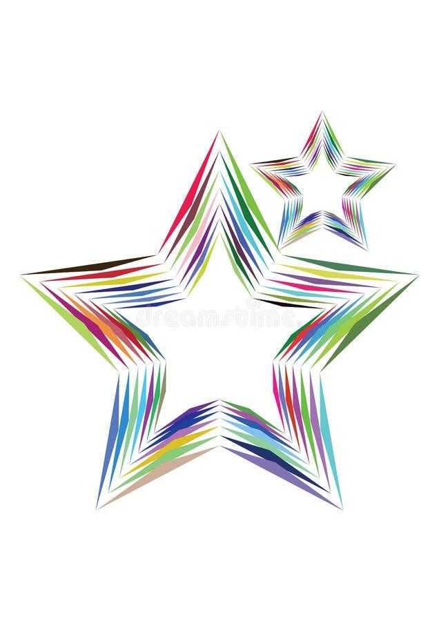 αστέρια ουράνιων τόξων διανυσματική απεικόνιση
