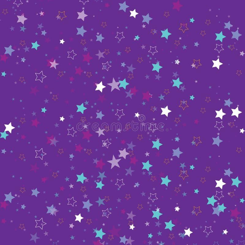 Αστέρια που απομονώνονται στο υπόβαθρο Εορτασμός κομφετί Η μειωμένη αφηρημένη διακόσμηση αστεριών για το κόμμα, γενέθλια γιορτάζε διανυσματική απεικόνιση