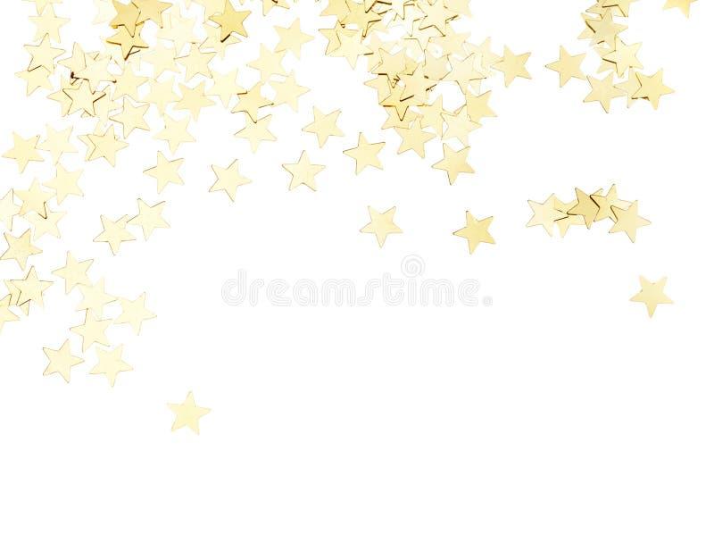 Αστέρια που απομονώνονται χρυσά στοκ φωτογραφίες
