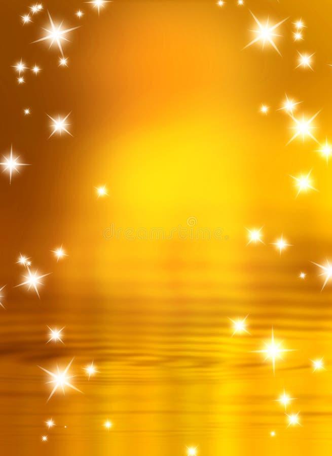 Download Αστέρια σε μια ανασκόπηση απεικόνιση αποθεμάτων. εικονογραφία από χρυσός - 13181657