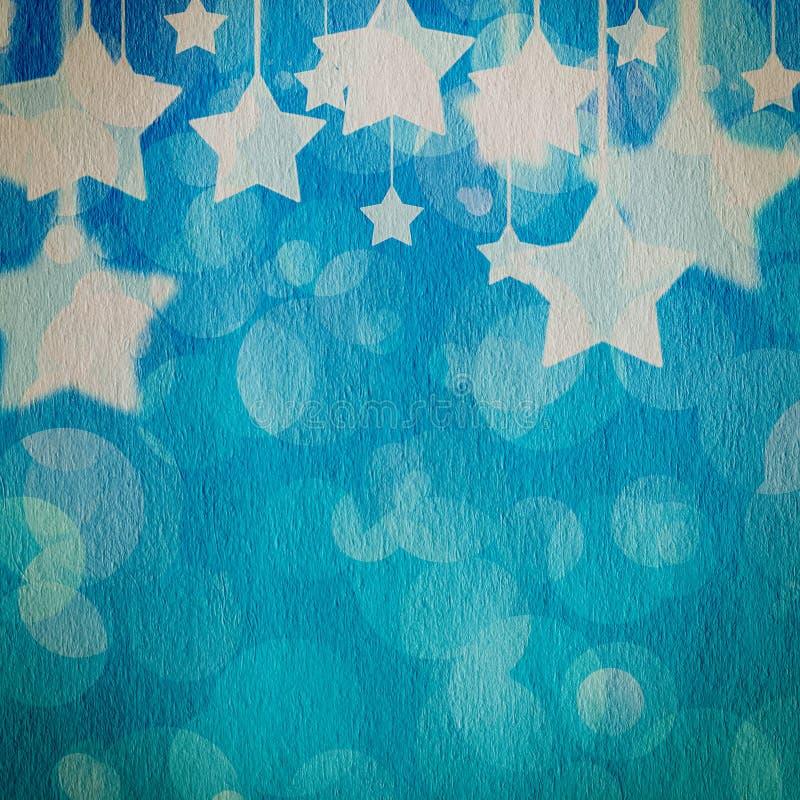 Αστέρια σε χαρτί grunge απεικόνιση αποθεμάτων