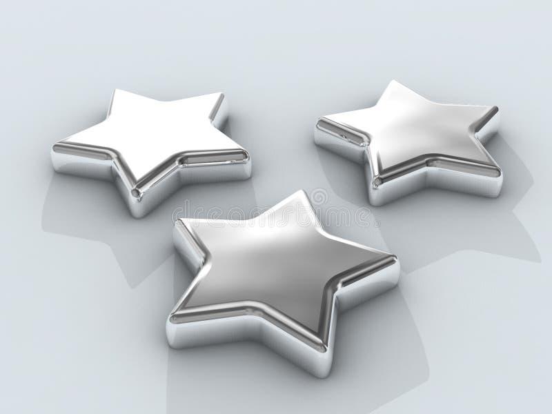 αστέρια τρία χρωμίου ελεύθερη απεικόνιση δικαιώματος