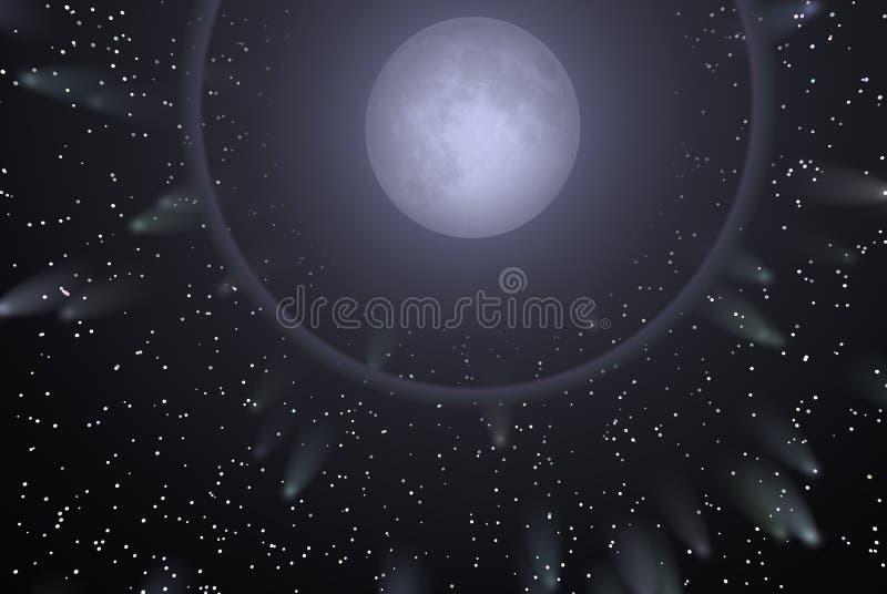 αστέρια φεγγαριών ελεύθερη απεικόνιση δικαιώματος