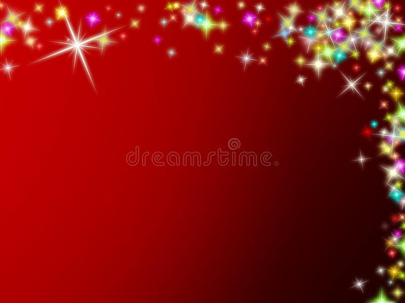 αστέρια Χριστουγέννων αν&alpha απεικόνιση αποθεμάτων