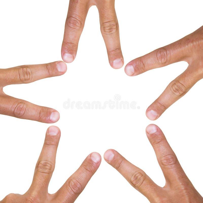 αστέρι δάχτυλων στοκ εικόνες με δικαίωμα ελεύθερης χρήσης