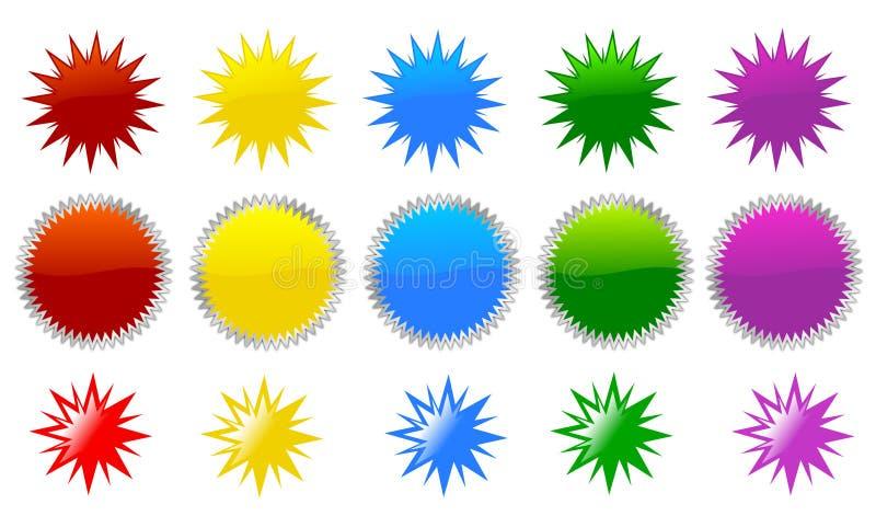 αστέρι εικονιδίων έκρηξης ελεύθερη απεικόνιση δικαιώματος