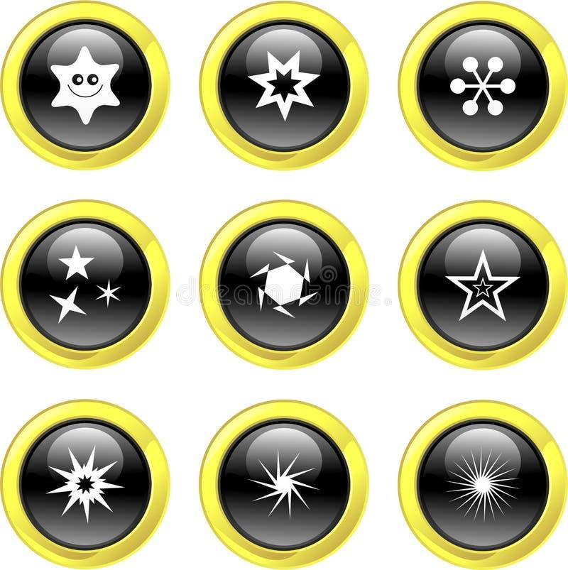 αστέρι εικονιδίων διανυσματική απεικόνιση