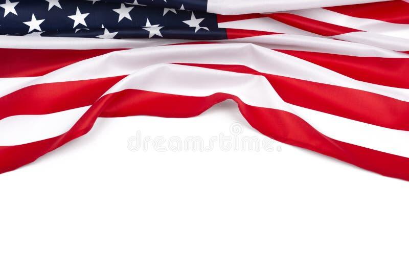 Αστέρι-και-ριγωτό διάστημα αντιγράφων αμερικανικών σημαιών στοκ εικόνες