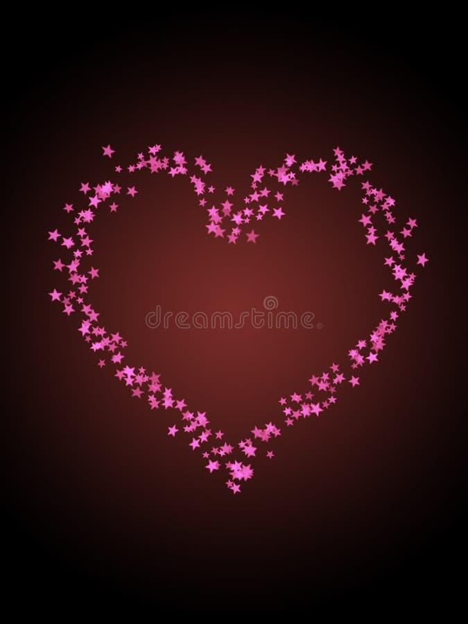 αστέρι καρδιών διανυσματική απεικόνιση