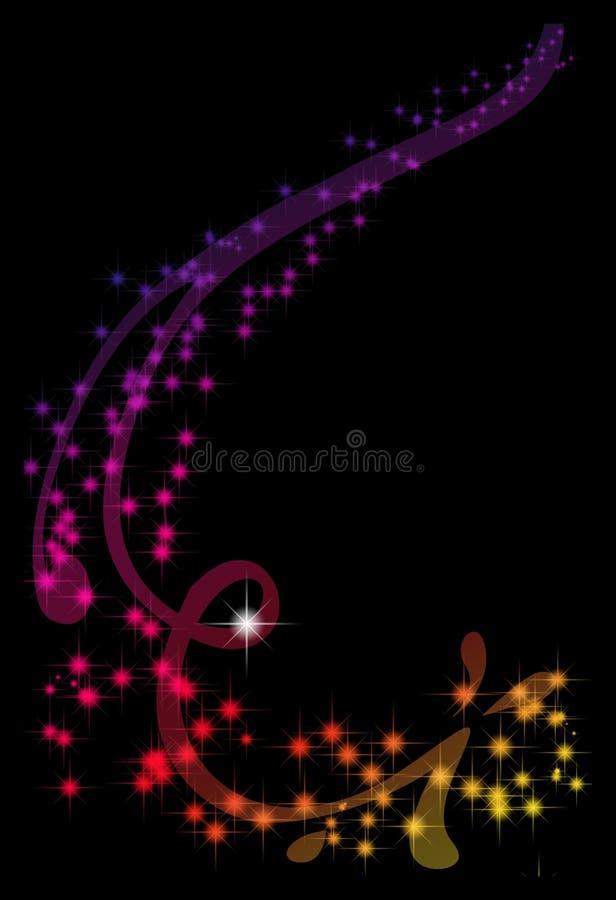 αστέρι κορδελλών διανυσματική απεικόνιση