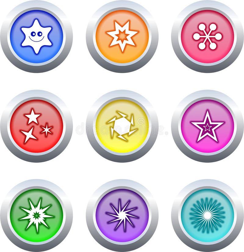 αστέρι κουμπιών ελεύθερη απεικόνιση δικαιώματος