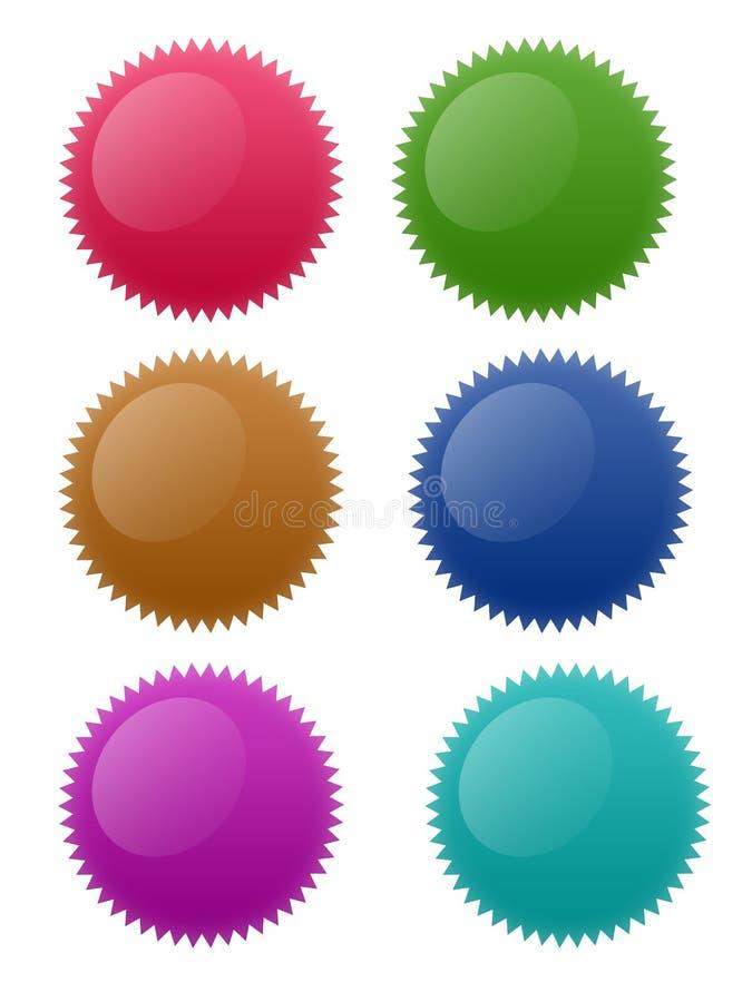 αστέρι κύκλων κουμπιών διανυσματική απεικόνιση