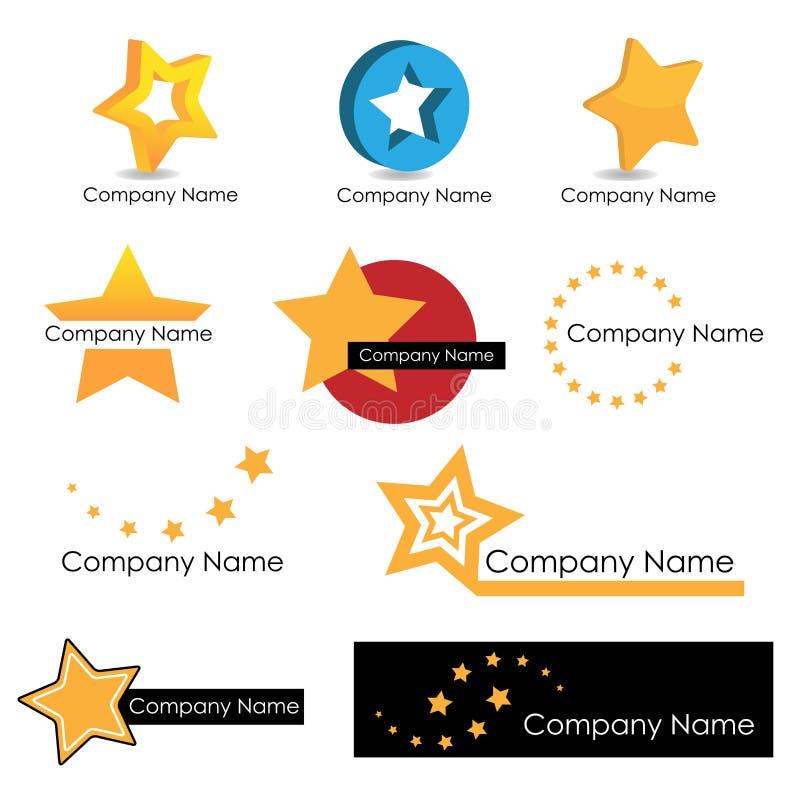 αστέρι λογότυπων διανυσματική απεικόνιση