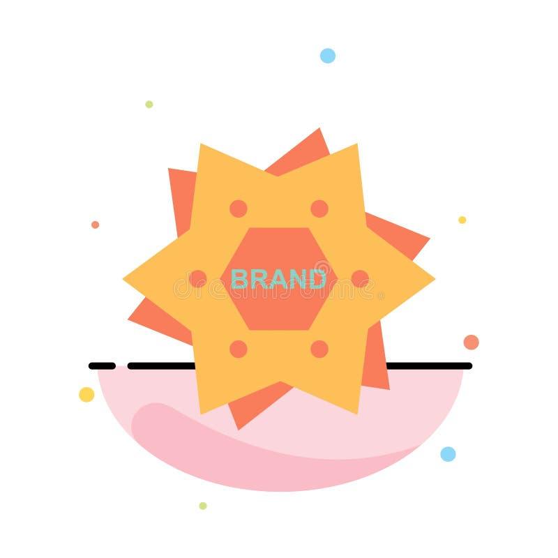 Αστέρι, μαρκάρισμα, εμπορικό σήμα, λογότυπο, αφηρημένο επίπεδο πρότυπο εικονιδίων χρώματος μορφής ελεύθερη απεικόνιση δικαιώματος