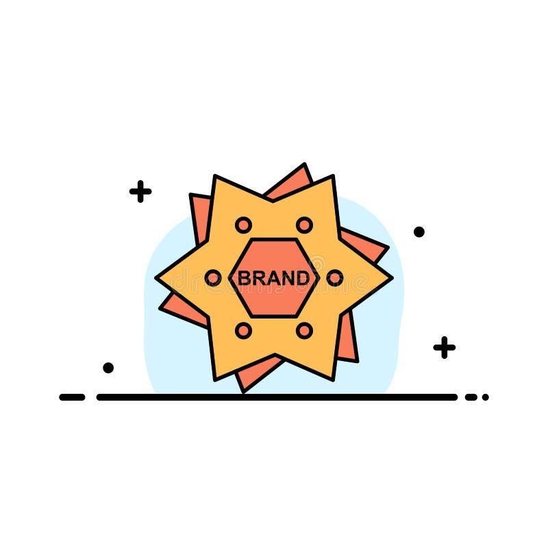 Αστέρι, μαρκάρισμα, εμπορικό σήμα, λογότυπο, μορφής πρότυπο εμβλημάτων επιχειρησιακών επίπεδο γεμισμένο γραμμή εικονιδίων διανυσμ απεικόνιση αποθεμάτων