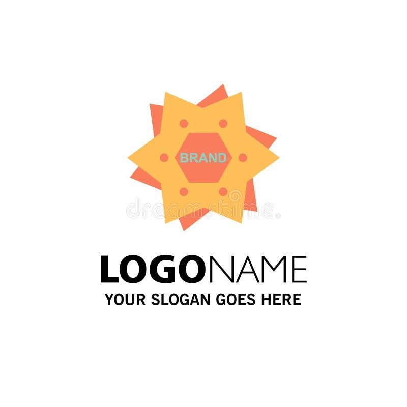 Αστέρι, μαρκάρισμα, εμπορικό σήμα, λογότυπο, πρότυπο επιχειρησιακών λογότυπων μορφής Επίπεδο χρώμα διανυσματική απεικόνιση