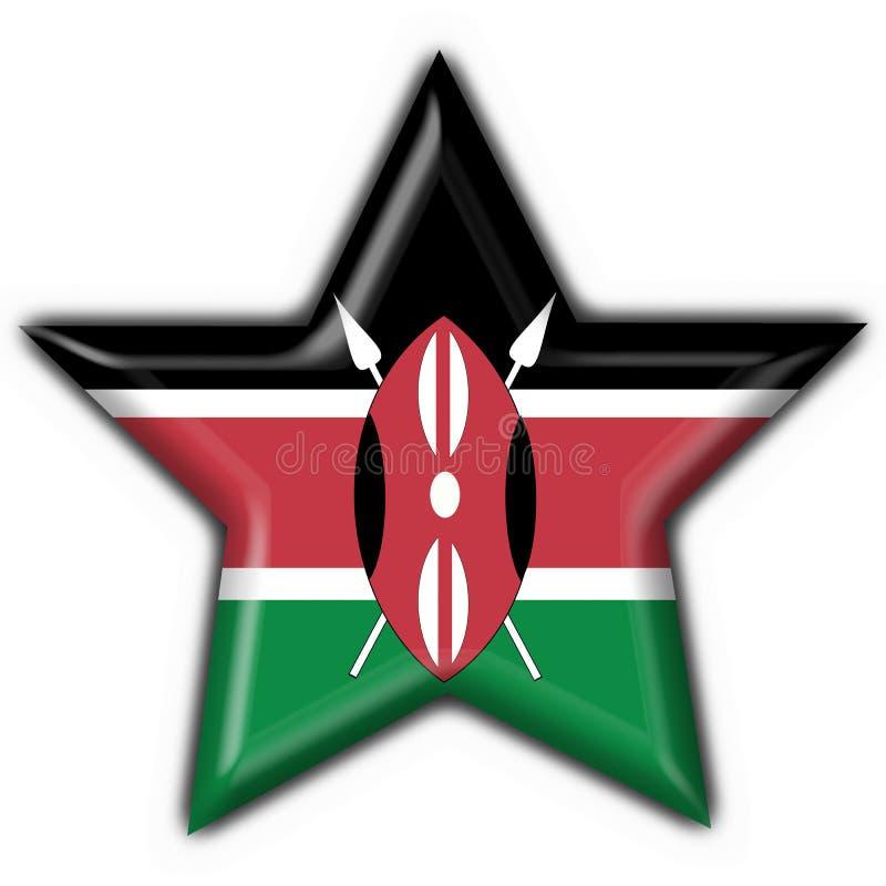 αστέρι μορφής της Κένυας σημαιών κουμπιών απεικόνιση αποθεμάτων
