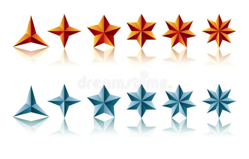 αστέρι μορφών διανυσματική απεικόνιση