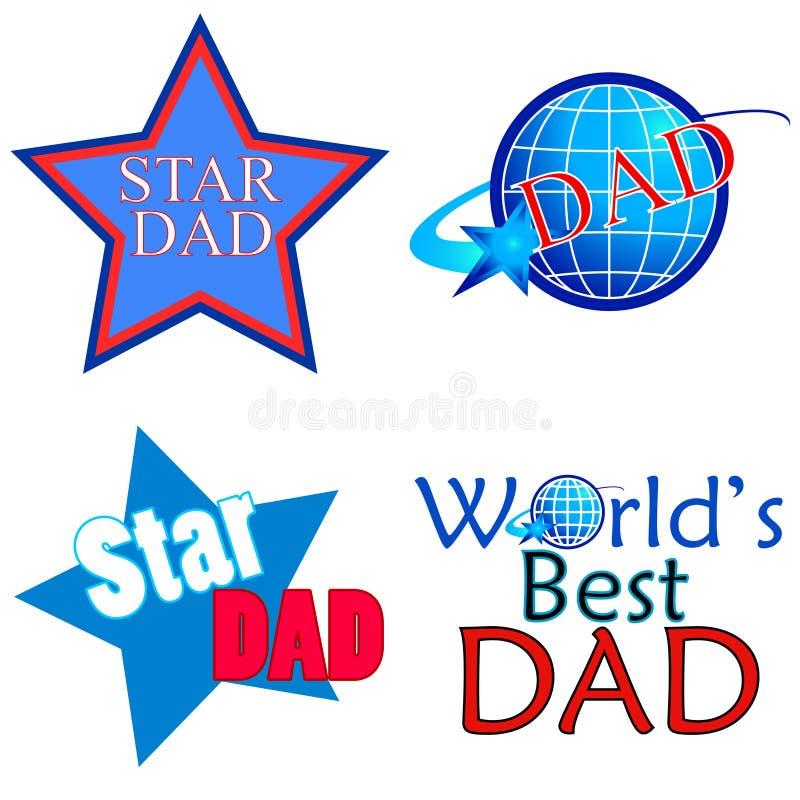 αστέρι μπαμπάδων διανυσματική απεικόνιση