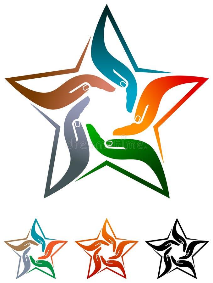 Αστέρι ομάδας ελεύθερη απεικόνιση δικαιώματος