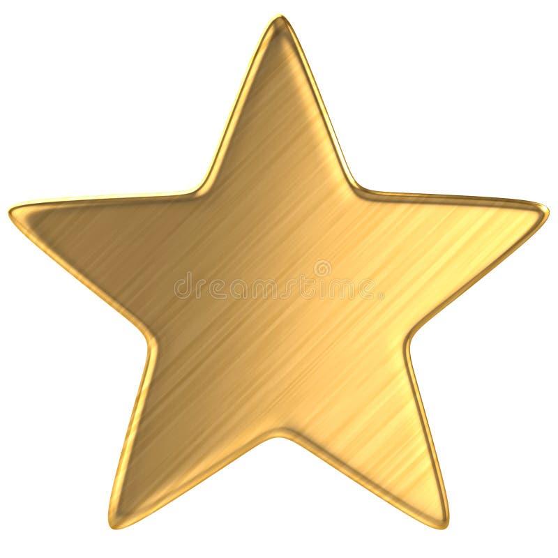 Αστέρι που απομονώνεται χρυσό ελεύθερη απεικόνιση δικαιώματος