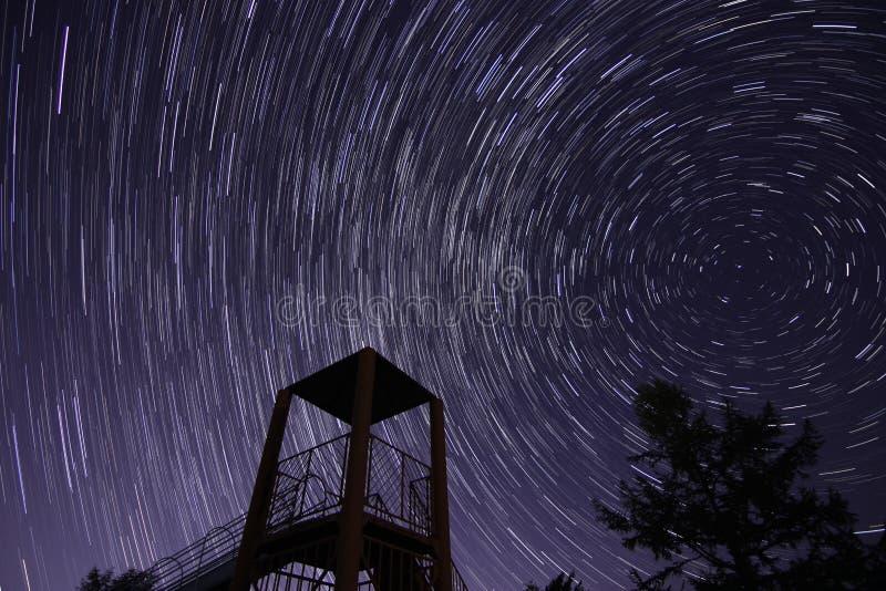 Αστέρι στη φωτογραφική διαφάνεια στοκ εικόνα