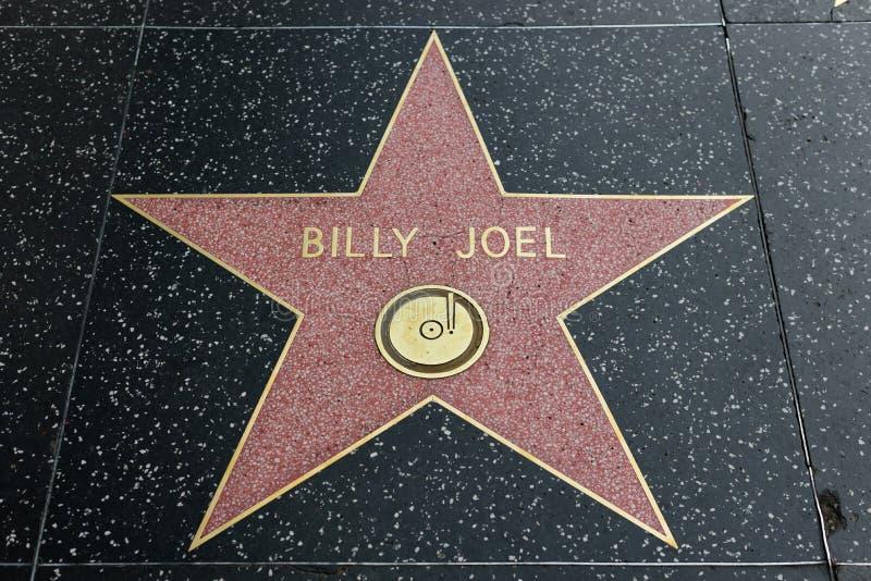 Αστέρι του Μπίλι Joel στον περίπατο Hollywood της φήμης στοκ φωτογραφίες με δικαίωμα ελεύθερης χρήσης