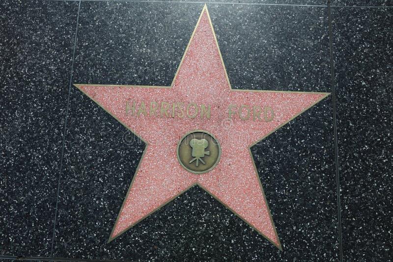 Αστέρι του Harrison Ford στον περίπατο Hollywood της φήμης σε Hollywood, Καλιφόρνια ΗΠΑ στοκ φωτογραφίες με δικαίωμα ελεύθερης χρήσης
