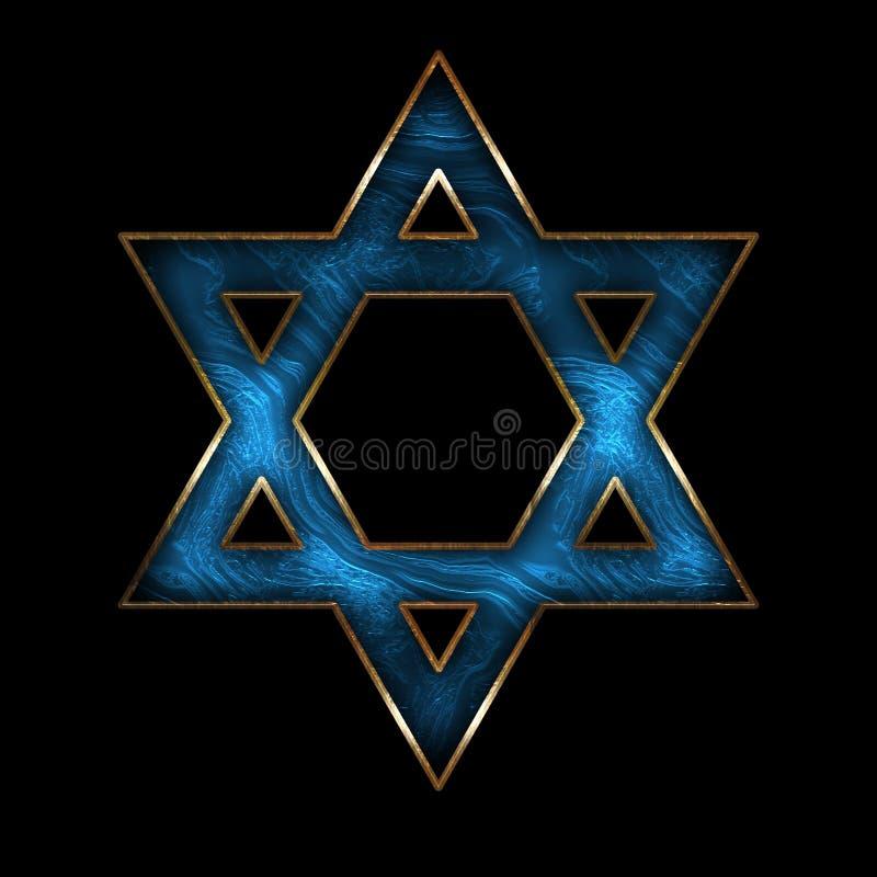 Αστέρι BlueMetal απεικόνισης του βασιλιά Δαβίδ στοκ εικόνες