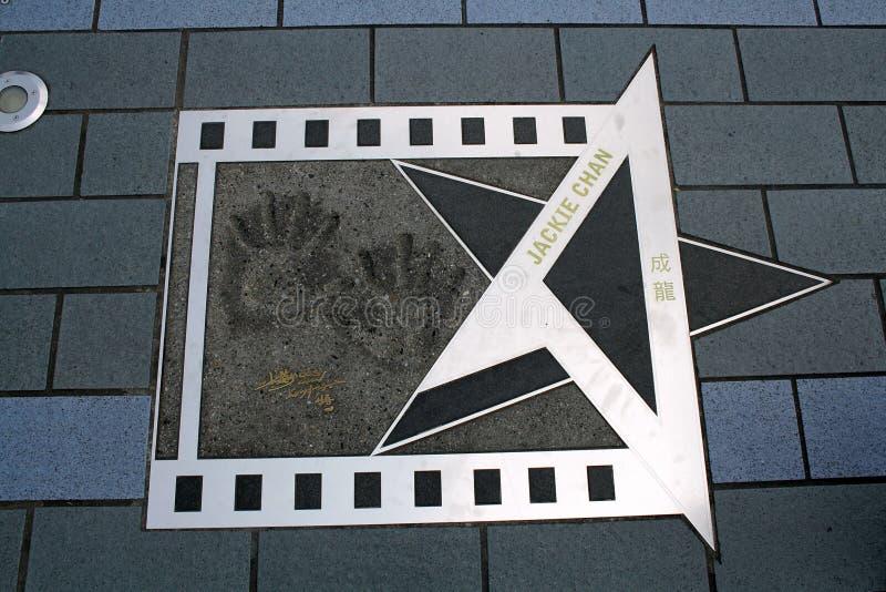 Αστέρι Jackie Chan στο Χονγκ Κονγκ στοκ φωτογραφίες