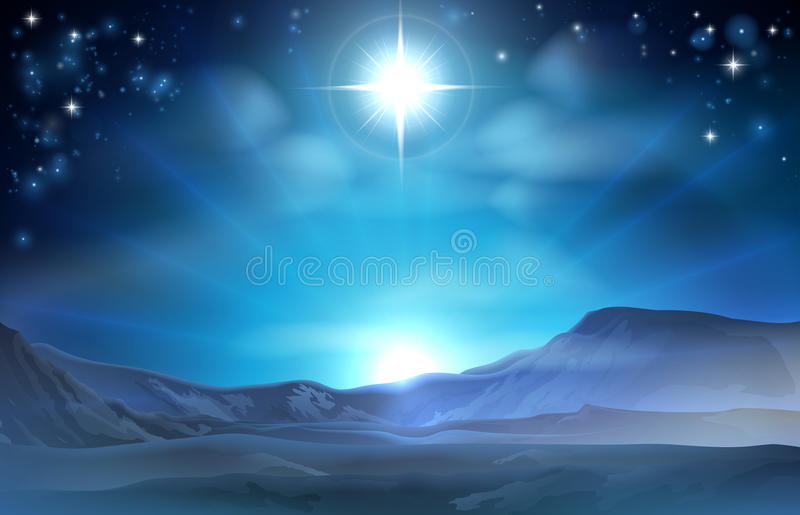 Αστέρι Nativity Χριστουγέννων της Βηθλεέμ διανυσματική απεικόνιση