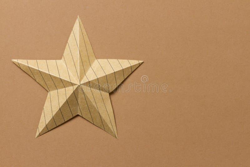 Αστέρι Origami στοκ φωτογραφία με δικαίωμα ελεύθερης χρήσης