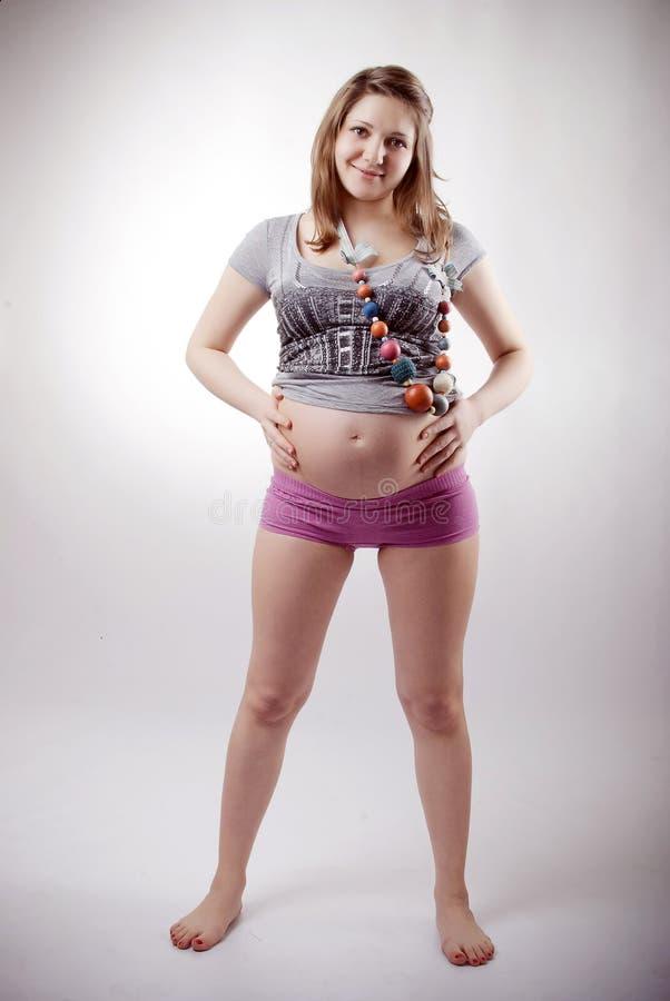 αστεία έγκυος γυναίκα στοκ φωτογραφίες
