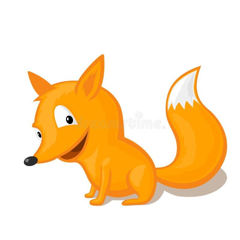 Αστεία απεικόνιση αλεπούδων κινούμενων σχεδίων απεικόνιση αποθεμάτων