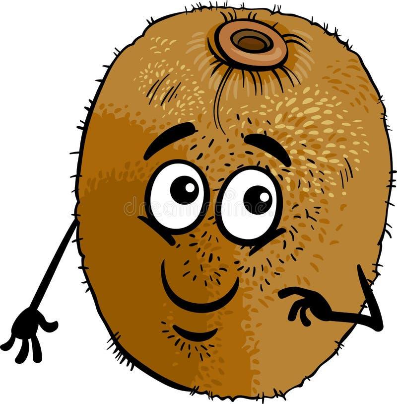 Αστεία απεικόνιση κινούμενων σχεδίων φρούτων ακτινίδιων απεικόνιση αποθεμάτων