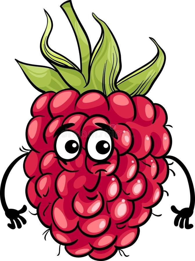 Αστεία απεικόνιση κινούμενων σχεδίων φρούτων σμέουρων απεικόνιση αποθεμάτων
