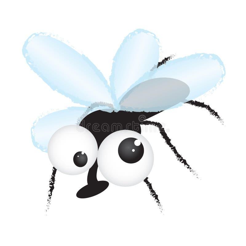 αστεία απεικόνιση μυγών κ&io διανυσματική απεικόνιση