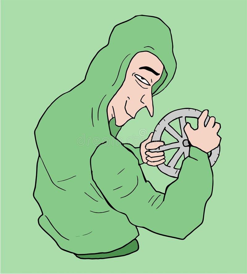 Αστεία απεικόνιση χαρακτήρα βάρδων απεικόνιση αποθεμάτων