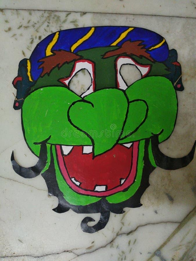 Αστεία δροσερή μάσκα προσώπου στοκ εικόνα