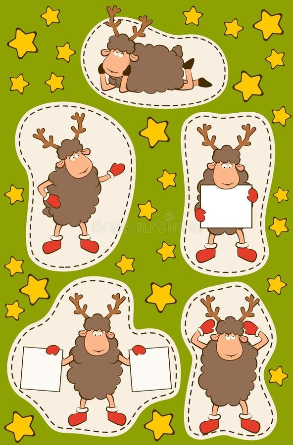 Αστεία ελάφια Χριστουγέννων. διανυσματική απεικόνιση