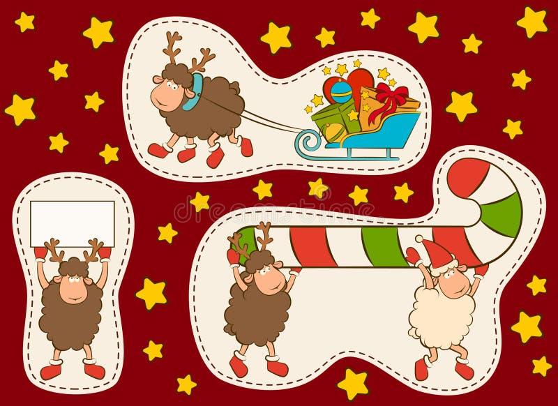 Αστεία ελάφια Χριστουγέννων απεικόνιση αποθεμάτων
