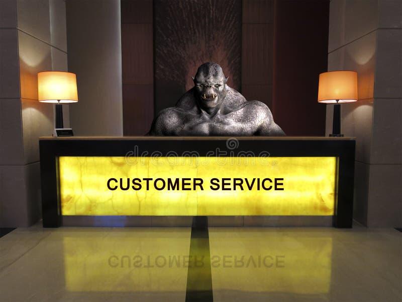 Αστεία εξυπηρέτηση πελατών γραφείων βοήθειας στοκ εικόνα