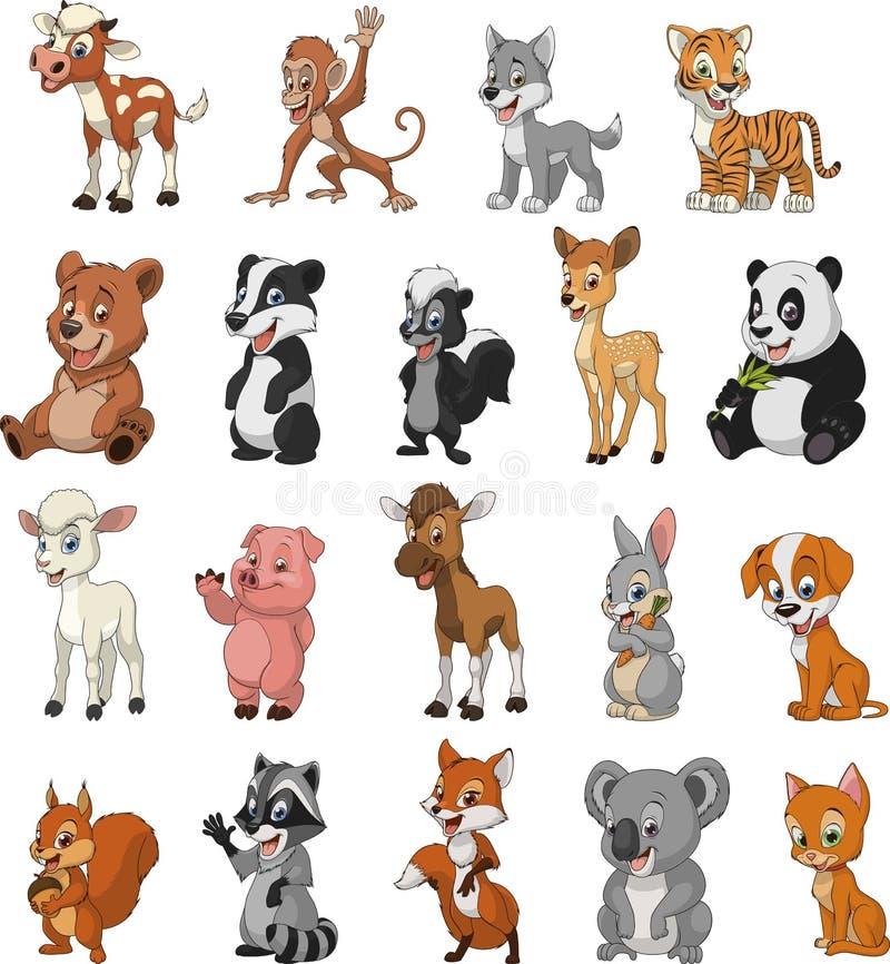 Αστεία ζώα παιδιών απεικόνιση αποθεμάτων